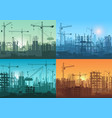 morning sunrise sunset and day building vector image