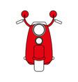 motorcycle flat vector image vector image