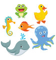 of cartoon animals vector image