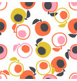 pattern with peaches vector image