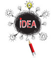 pencil idea isolate write red idea business vector image vector image