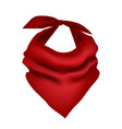 realistic detailed 3d red neck scarf vector image