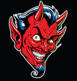rockabilly devil tattoo in ful vector image