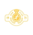 Run Club Yellow Label Design vector image vector image