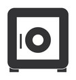 safe box security icon vector image vector image