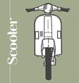 Scooter symbol mod lambretta vespa vector image
