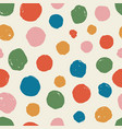 seamless pattern ink circles shapes hand painted vector image