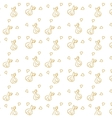 Seamless pattern with hand-drawn hearts bows and vector image