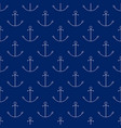 seamless travel pattern with anchor line style vector image vector image
