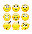 set of emotions eps file vector image