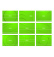 set of green abstract background with copy space vector image vector image
