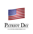 sign patriot day on white background vector image vector image