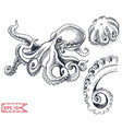 sketch - octopus hand drawn vector image