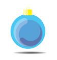 sky blue christmas ball vector image vector image