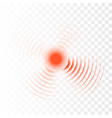 sonar wave sign radar icons vector image vector image