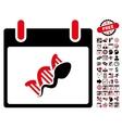 Sperm DNA Replication Calendar Day Flat vector image vector image