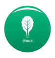spinach icon green vector image