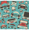 toys cars traffic print vector image