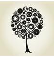 Tree a gear wheel vector image vector image