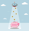 UFO tax savings are drawn from my savings vector image