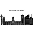 usa baltimore maryland architecture city vector image vector image
