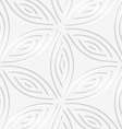White geometrical flower like shapes perforated vector image vector image