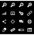white seo icon set vector image