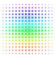 x-cross icon halftone spectral grid vector image