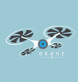 drone with camera logo vector image