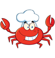 Crab Chef Cartoon Mascot Character vector image