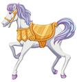 A carrousel horse vector image vector image
