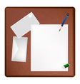 A Pencil Lying on A Blank Page and Envelope vector image vector image
