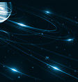 abstract futuristic space background vector image vector image