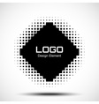Abstract Halftone Logo Design Element raster vector image vector image