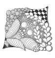 Abstract monochrome zentangle ornamen vector image vector image