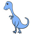angry blue dinosaur on white background vector image vector image