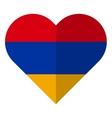 Armenia flat heart flag vector image vector image