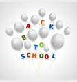 back to school with white balls vector image vector image