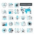 Balck And Blue Infographic Elements vector image