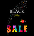 banner with text sale black friday vector image vector image