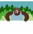 Bear sitting at a table vector image vector image