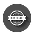 best seller grunge rubber stamp with long shadow vector image