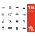 Black Logistic Icons Set vector image vector image