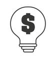 bulb light money symbol icon vector image