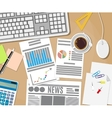 Business Workplace concept vector image vector image