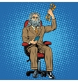 businessman Zeus the Thunderer vector image vector image