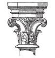 capital 16th century vintage engraving vector image vector image