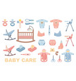 care of the childthe icons set vector image