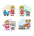 Cartoon woman hobby vector image vector image
