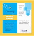 cloud circuit company brochure title page design vector image vector image